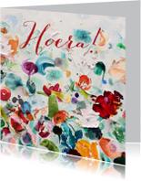 Verjaardagskaarten - Hoera Kunst Paletstukken - vk