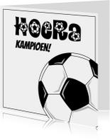 Felicitatiekaarten - hoera voetbal JVT