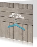 Felicitatiekaarten - Hout Hanger Zoon