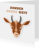 Zomaar kaarten - humorkaart geit humor ME