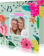Huwelijks jubileum 25 jaar Bloemen