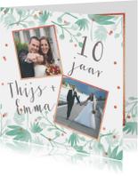Huwelijksjubileum botanical foto's confetti