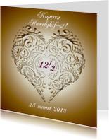 Jubileumkaarten - huwelijksjubileum koper met hart