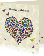 Jarig met vlinderhart