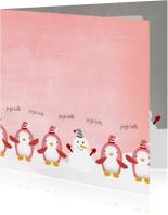 Kerstkaarten - Jingle Penguins