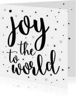 Kerstkaarten - Joy to the World - Kerst