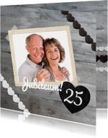 Jubileum 25 Hout & Grijs stijlvol