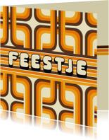 Uitnodigingen - Jubileum 70's Feest Vierkant
