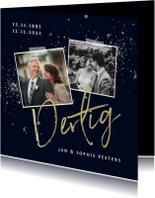 Jubileum uitnodiging 30 jaar sparkle en foto's