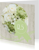 Jubileumkaarten - Jubileumkaart 12.5 roos