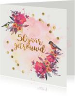 jubileumkaart confetti 50 jaar getrouwd