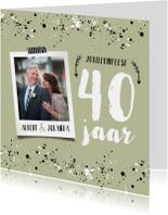 Jubileumkaart hip met spetters en eigen foto