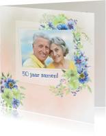 Jubileumkaart lentebloemen