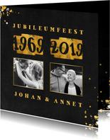 Jubileumkaart met foto en goudlook 1969/2019