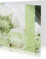 Jubileumkaarten - Jubileumkaart met rozen vijftig jaar