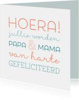 Felicitatiekaarten - Jullie worden papa & mama