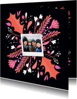 Kerstkaarten - Kerst illustratiekaart met foto