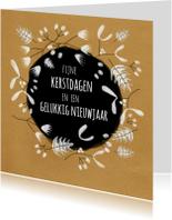 Zakelijke kerstkaarten - Kerst - Winter Leaves - MW