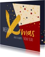Kerst zakelijk gouden xmas gewenst