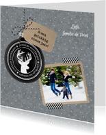 Kerstkaarten - Kerst Zink Zwarte Kerstbal VK