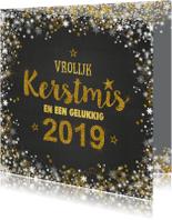 Kerstkaart 2019 grijs goud romantisch handlettering