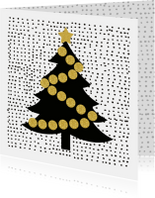 Kerstkaarten - Kerstkaart Boompje glitter