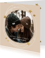 Kerstkaarten - Kerstkaart cirkel sterren