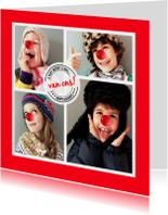Kerstkaart CliniClowns Fotokaart