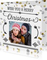 Kerstkaarten - Kerstkaart confetti met eigen foto's