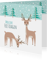 Kerstkaarten - Kerstkaart herten - HB