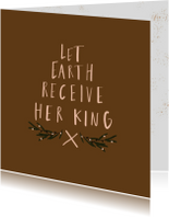 Kerstkaart  Let earth