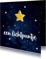 Kerstkaarten - Kerstkaart lichtpuntje met sterren