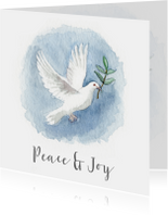 Kerstkaarten - Kerstkaart met een vredesduif illustratie