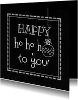 Kerstkaarten - Kerstkaart schoolbord krijt