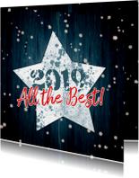 Kerstkaart ster en hout 2019