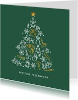 Kerstkaart stijlvol voor klussenbedrijf