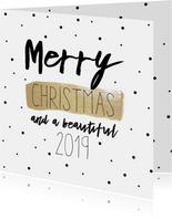 Kerstkaart | Stipjes en goud
