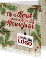 Zakelijke kerstkaarten - Kerstsfeer logo zakelijk kersttakken