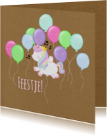 Kinderfeestjes - Kinderfeest Unicorn Ballon