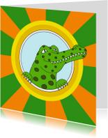 Kinderkaart krokodil - SK