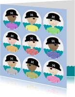 Kinderkaart piraatjes