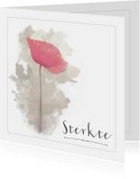 Condoleancekaarten - Klaproos waterverf - Condoleancekaart