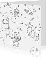 Kleurplaat kaarten - Kleurplaat Kaart Ruimte