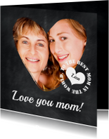 Krijtbord Love you mom! - BK