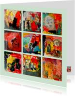 Kunstkaarten - Kunstkaart abstract IW