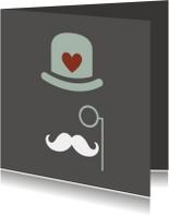 Vaderdag kaarten - Leuke kaart met snor (1)