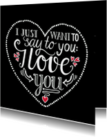 Liefde kaarten - Liefde - I love you black