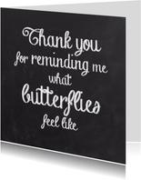 Liefde kaarten - Liefde kaart butterflies