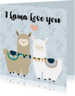 Liefde kaart Lama love