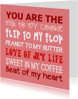 Liefde kaart You are